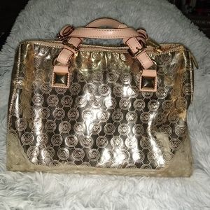 Gold Michael Kors purse